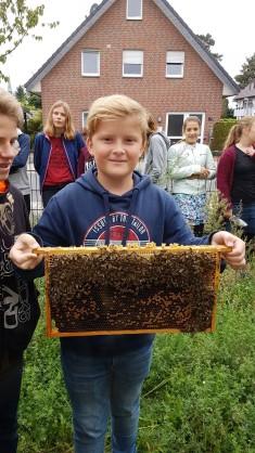 Ganz schön mutig: Unsere Bienen sind sehr friedlich und stechen eigentlich nicht.