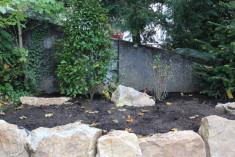 Gartenfläche vor dem pflanzen
