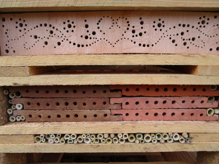 Detail vom Insektenhotel