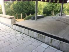 Das Beet im Eingangsbereich der Kraichgau – Realschule in Sinsheim