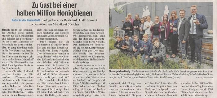 Der Besuch unserer Schülergruppe in der lokalen Presse