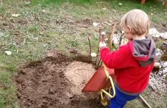 75% aller heimischen Wildbienenarten nisten im Boden. Wir bauen eine naturnahe Niststelle für bo ...