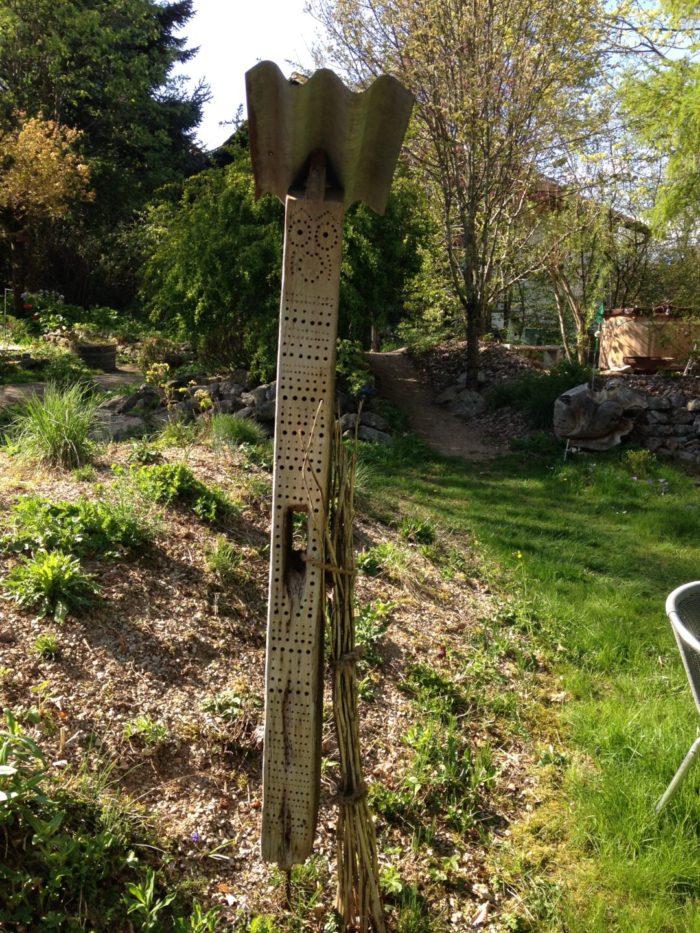Wildbienenhotel in meinem Naturgarten