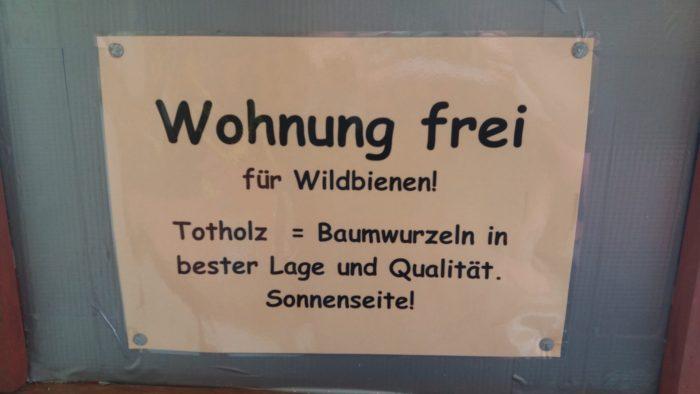 Wohnung frei für Wildbienen