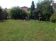 Mein Garten als ich ihn Frühjahr 2016 übernommen habe Doppelhaushälfte vorne ca. 100 qm nur Rase ...