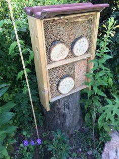 Bienenhotel selber gebaut