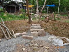 Auch eine Treppe wird angelegt