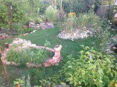 Garten vorne jetzt schon mehr Module aber noch noch nicht mein Endziel