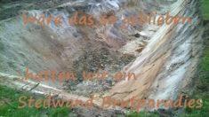 Original Sandmischung der Wohnung für Feldhasen und Wildbienen