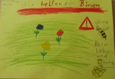 Gemaltes Bild von Emma für das bepflanzte Bienenparadies