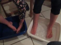 Sich gutes tun mit einem Hand- und Fußbad