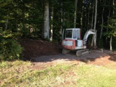 1. Hotzenwald Alpenpanorma -Sitzplatz: Die Baustelle