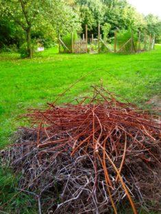 Reisig, alte Stauden, Holz… Ein Haufen mit Mehrwert