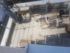 Vorher: Der Dachgarten im Februar