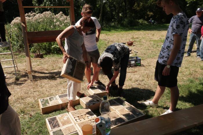 Vorbereitung Insektenhotel