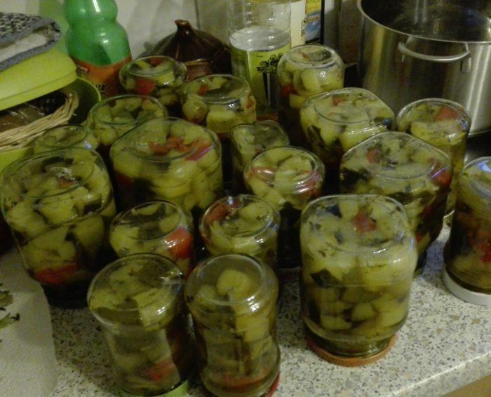 Eingelegte Zucchini…